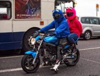 Cookie Monster va in moto